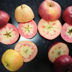 果肉が赤いりんご